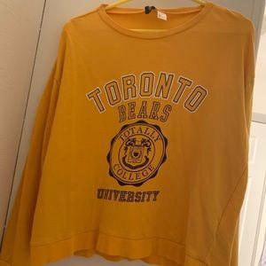 Yellow/Gold long sleeve H&M shirt